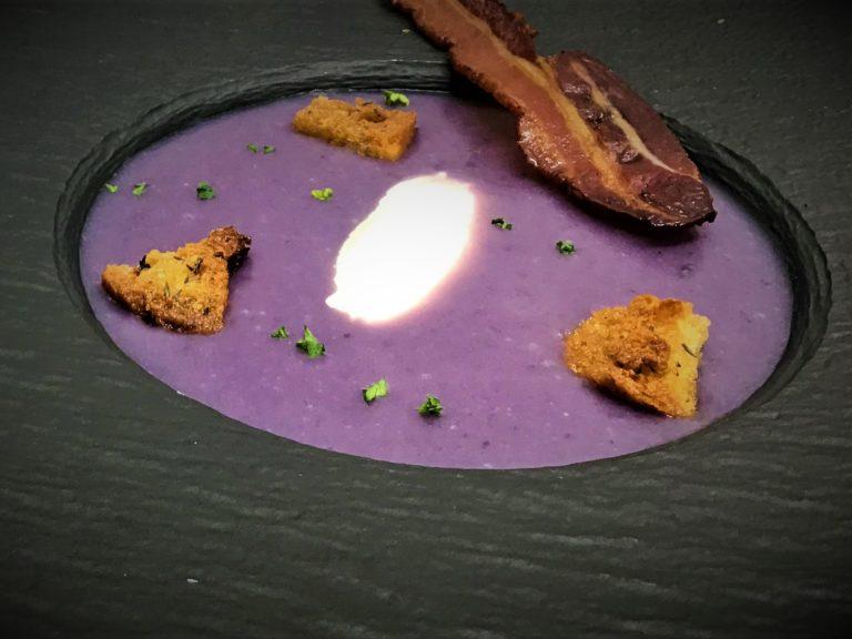 Velouté de légumes violets
